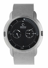 Luxury & Sports Obaku Herren-Stahl Watch V141GCBMC with Issues New