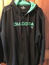 XXL Diadora Black/green Hoodie Jacket As New Preloved