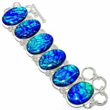 """Australian Triplet Fire Opal Silver Fashion Jewelry Bracelet 7-8"""" SB4351"""
