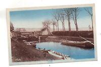 01 - cpa - PONT DE VAUX - Le canal près du pont de Fleurville (C1352)