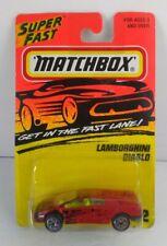 1996 MATCHBOX Action System VHTF SUPERFAST SERIES LAMBORGHINI DIABLO Red #22 NIP
