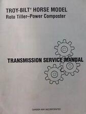 Troy-Bilt Horse Roto Tiller Transmission Service Manual Composter Garden-Way