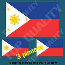 PHILIPPINES NATIONAL FLAG DECAL STICKER HARD HAT VEHICLE HELMET STICKERS
