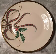 Lenox China HOLIDAY NOUVEAU RIBBON GOLD Lot Of 4 Bread & Butter Plates NWT