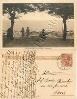 Cartolina di Falconara Marittima, panorama dal parco - Ancona, 1924