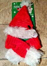 Time for Joy Christmas Holiday Santa Hat and Scarf for Cats / Kittens - One Size