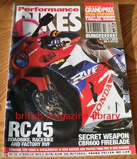 Performance Bikes 1994 RVF750 GP500 Supermono DT125 RC45 CBR600 Fireblade FZR600