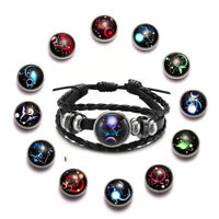 Geflecht Luminous Drucken von Leder 12 Sternzeichen Sternzeichen Armband