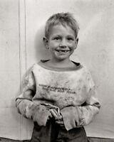 MIGRANT COTTON PICKER'S CHILD 8X10 PHOTO DEPRESSION ERA