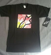 Alpinestars Men's Black Water Square Graphic Tee Shirt size Small