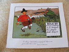 Crombie impresión de Golf regla número Xv cuando una pelota para dejarse caer