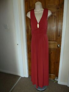 Pretty red ruched detail evening maxi dress from Kaleidoscope size 14