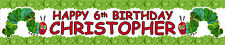 2 x HUNGRY CATERPILLAR PERSONALISED BIRTHDAY BANNER