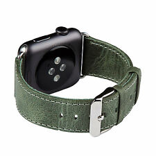 FUTLEX Watch Strap for Apple Watch - 38mm - Green Genuine Heritage Leather Band