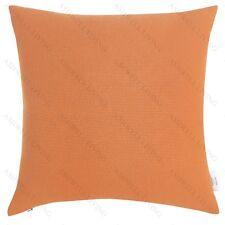 100% Premium Cotton Home Decor Cushion/Throw Pillow (With Insert) Orange