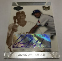 Joaquin Arias Texas Rangers 2007 Topps Co-Signers autographed gold /200 #103
