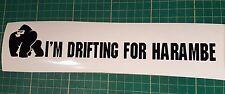 I'm Drifting for Harambe Sticker Gorilla Joke Decal Meme JDM Drift Jap VW Funny