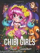 Chibi Girls Adult Colouring Book Anime Manga Japanese Fantasy Kawaii Animals