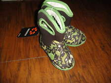 NWT NEW BOGS BABY INFANT SZ 4 GREEN AND BROWN ANIMAL BOOTS