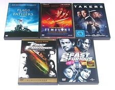 DVD: Sammlung PAUL WALKER ( Timeline, Takers, Fast and the furious, Flags Father
