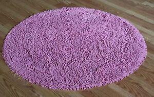 LIGHT Pink Super Soft Cotton chennile noodle Shag Rug 4' Round
