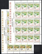 1999 EUROPA CEPT Liechtenstein 2 Minifogli da 20 valori MNH**