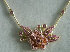 Clogau 18ct Welsh Gold Imperial Rose Pink Sapphire Necklace