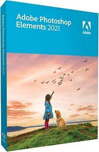 Adobe Photoshop Elements 2021 - Windows 10 / Mac 64bit - Boxed - FULL RETAIL DVD
