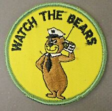 "1970's YOGI BEAR State Trooper WATCH THE BEARS embroidered jacket 3"" patch"