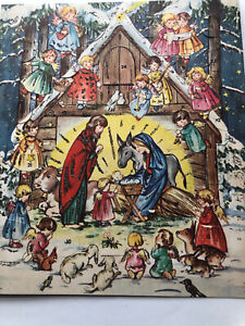 Vintage Christmas Advent Calendar Children From Germany For Hallmark