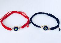 Evil Eye Mati Friendship Cord Black Red Macrame Bracelet Blue Gold Men Women