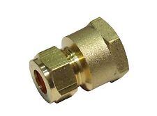 10mm Compression x 1/2 Inch BSP Female Adaptor   Brass Plumbing Fitting