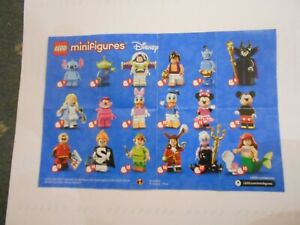 Lego Minifigures -  Information Sheet  for Disney Series 1