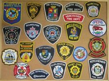 CANADA FIRE/RESCUE DEPARTMENT PATCHES/BADGES! LOT OF 22! SEE ITEM DESCRIPTION