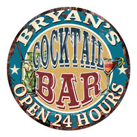 CPCO-0102 BRYAN'S COCKTAIL BAR Father's Day Valentine's Day Christmas Gift Sign