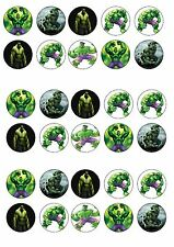 Incredible Hulk commestibili wafer riso CARTA CUP CAKE TOPPER x30