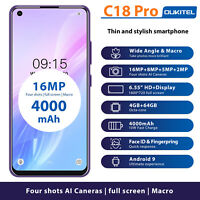 Oukitel C18 PRO 6.55inch 4GB 64GB Smartphone MTK6757 Octa Core 4000mah FACE ID