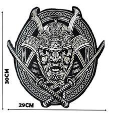 More details for large samurai iron on patch back piece motif patches badge 30 cm x 29 cm p441