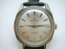 Vintage SWISS made RODANIA 17 Jewels Men's Watch 50's-1618