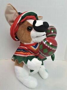 Animated Mariachi Puppy Singing Macarena Dog Dancing Plush Maracas Hug Me 121
