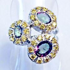 Ovale Echte Edelstein-Ringe aus Sterlingsilber mit Topas für Damen