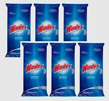 6- 28pk WINDEX Original GLASS Surface Wipes Mirrors Multi Use Cleans STREAK FREE