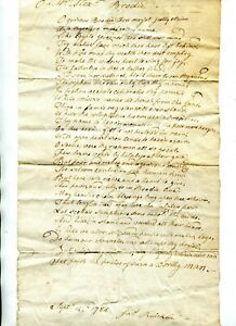 RARE 1784 Mss DRAFT POEM IN THE DISTINCTIVE HAND OF SCOTTISH POET JAMES RUICKBIE