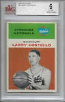 1961-62 Fleer Basketball Larry Costello Card # 9 BGS 6 Ex-Mt Set Break