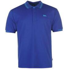 Mens Branded Lonsdale Regular Fit Short Sleeve Lion Polo Shirt Top 2XL Blue