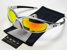 Oakley Straight Jacket Aluminium Fire Iridium Sonnenbrille 04-253 Verspiegelt XX