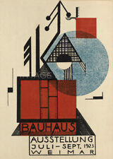Bauhaus Ausstellung 1923 Weimer Art Exhibition Giclee Canvas Print 20x28