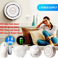 Smart Home WiFi Water Leak Detector PIR Motion Door Window Siren Alarm Sensor O1