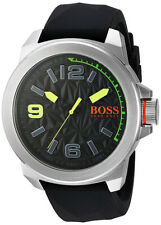 Hugo Boss Men's Quartz Stainless Steel/Black Silicone Watch 1513375