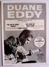 Duane Eddy 1963 Poster Ad The Son Of Rebel Rouser lonely guitar